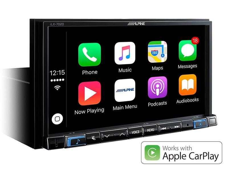 ALPINE ILX-702D Digital Media Station 1-DIN Android Auto Bluetooth Apple CarPlay