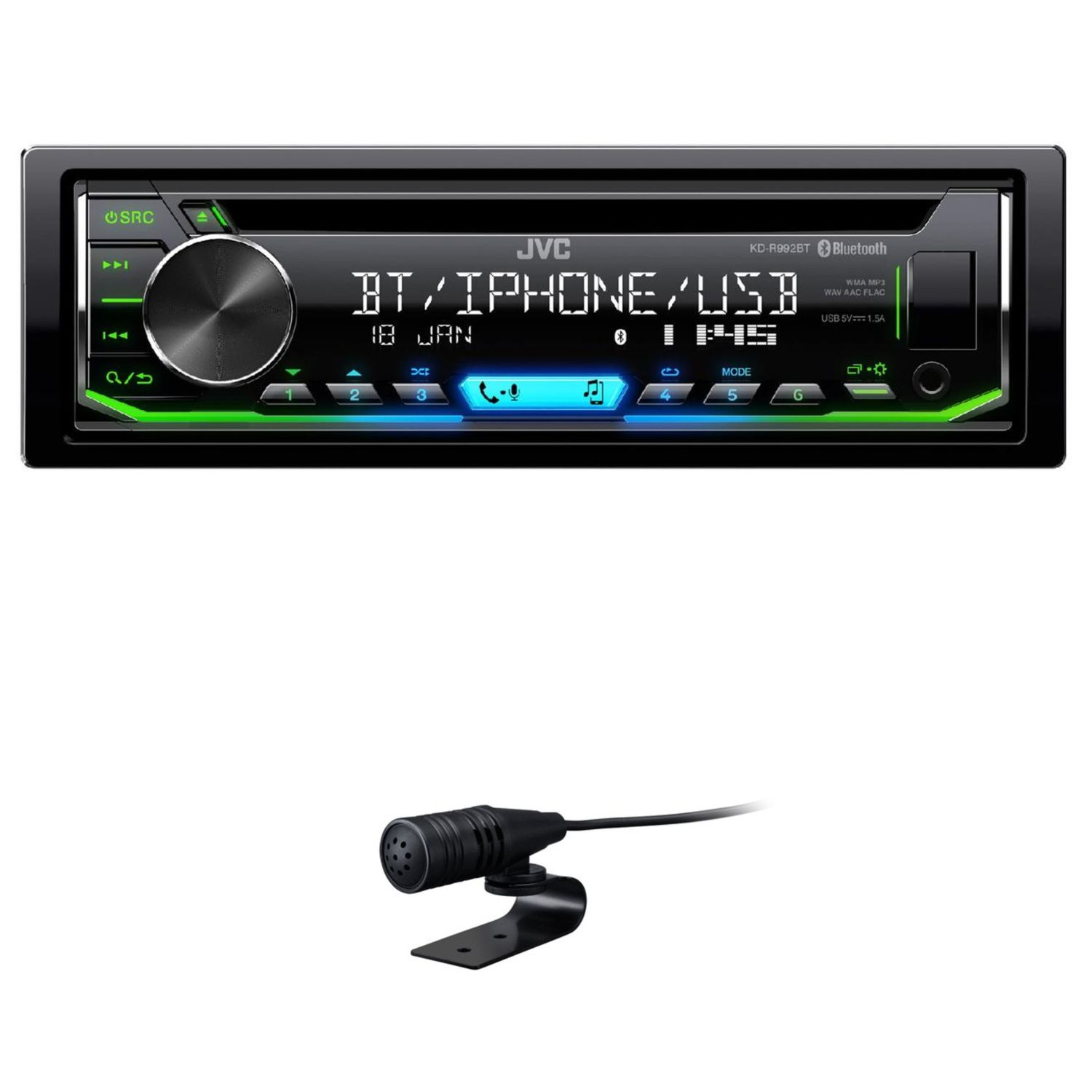 jvc kd r992bt cd mp3 flac autoradio usb bluetooth aux in. Black Bedroom Furniture Sets. Home Design Ideas