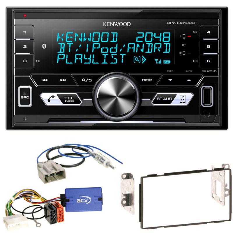 Kenwood DPX-M3100BT USB Bluetooth iPhone AOA2.0 Einbauset für Nissan Qashqai J10