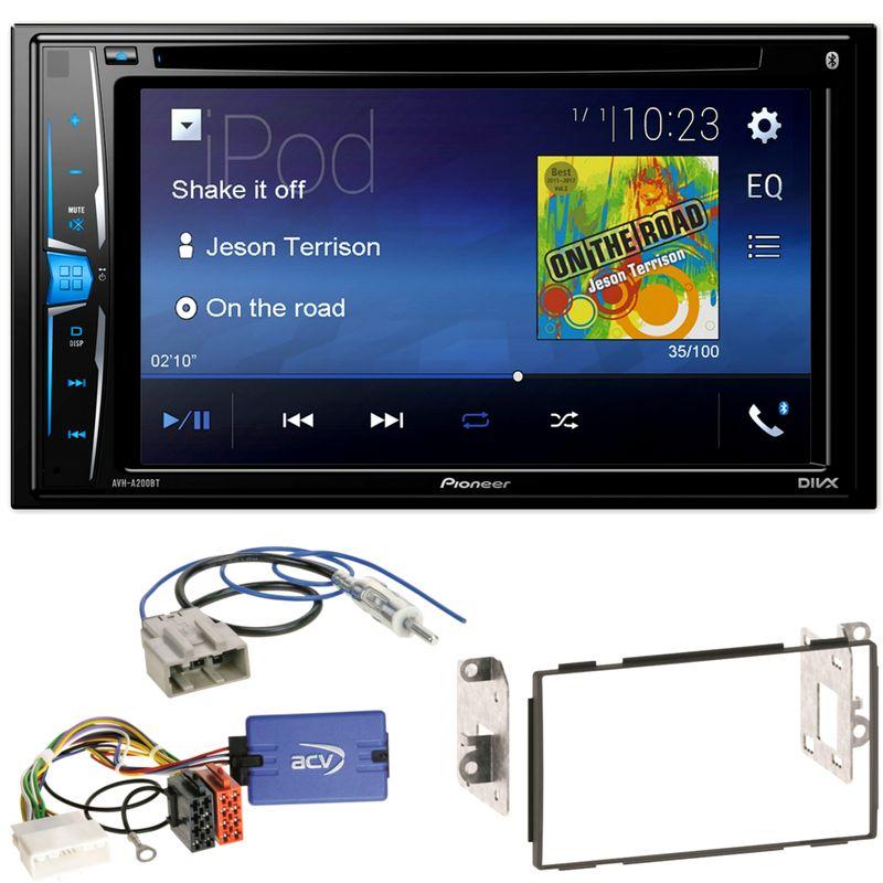 Pioneer AVH-A200BT USB iPhone WMA Bluetooth Einbauset für Nissan Qashqai J10