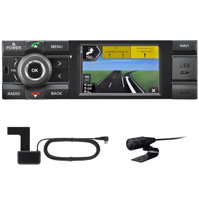 Kienzle MCR 1031 NAV 1 DIN Autoradio Navigation DAB+ USB Bluetooth MP3 AUX