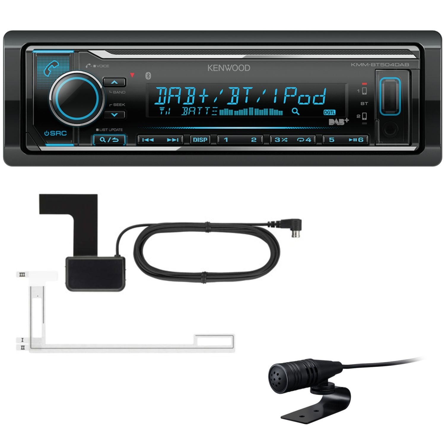 kenwood kmm bt504dab usb bluetooth autoradio digitalradio. Black Bedroom Furniture Sets. Home Design Ideas