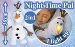 Disney Frozen / Eiskönigin - Olaf GoGlow Nachtlicht Plüsch