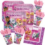 36-teiliges Party Set 8 Kinder Paw Patrol Pink
