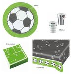 37- teiliges Party Set Fussball Kicker Party 8 Personen