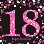 16 Servietten 18 Sparkling Celebration - Pink 33 x 33 cm