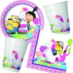 Fluffy Minions Party Set 52-teilig Kinder Geburtstag