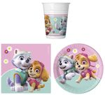 Paw Patrol Skye & Everest 36-tlg. Party Set Geburtstag 8 Kinder Teller Becher Servietten