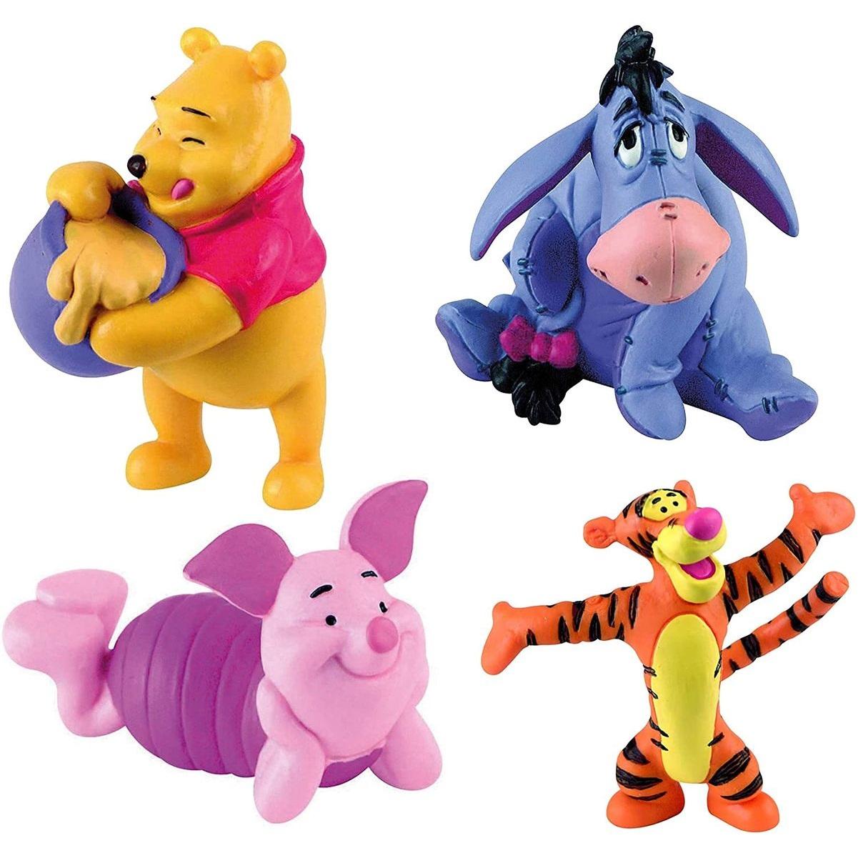 Bullyland - Winnie Puh - 4er Figuren Set mit Winnie, I-Ah, Ferkel und Tigger