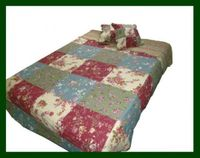 Quilt Rose Garden Patchwork Cottagestyle 260x260cm