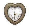 Romantische Wanduhr Herz Uhr Metallrahmen Vintage
