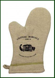 Ofenhandschuh CHATEAU MARGAUX Grillhandschuh Leinenoptik – Bild 1