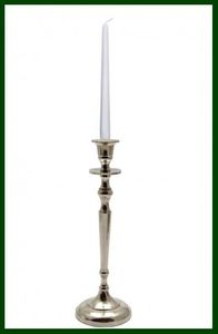 Eleganter Leuchter silberfarben Kerzenständer Metall