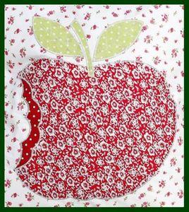 Kissenhülle APFEL Kissenbezug apple rot weiß – Bild 2
