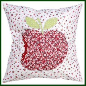 Kissenhülle APFEL Kissenbezug apple rot weiß – Bild 1