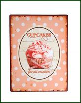Schild rosa CUPCAKES FOR ALL... Retro Vintage – Bild 1
