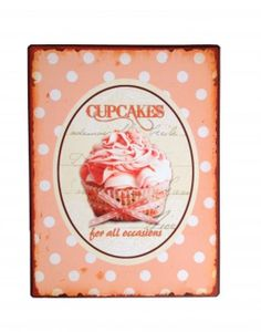 Schild rosa CUPCAKES FOR ALL... Retro Vintage – Bild 3