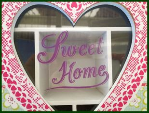 Box SWEET HOME Teebox HERZ Holz Romantik bunt – Bild 2