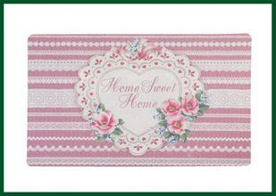 Fußmatte HOME SWEET HOME Türmatte rosa pink – Bild 1