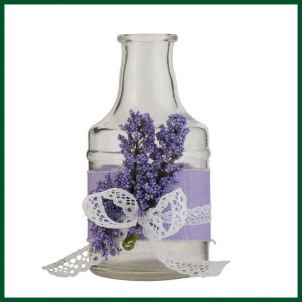 dekoflasche lavendel 2er set flasche lila glas wohnen dekoration allerlei dekoration. Black Bedroom Furniture Sets. Home Design Ideas