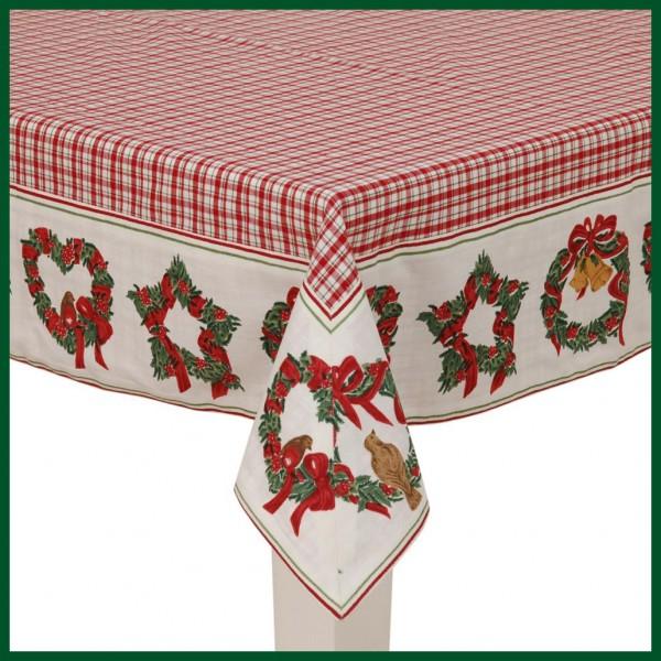 mitteldecke weihnachten rot tischdecke karo v gel. Black Bedroom Furniture Sets. Home Design Ideas