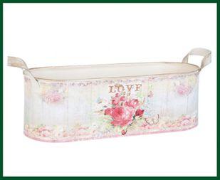 Pflanztopf LOVE Pflanzschale rosa rot pastell Blumentopf – Bild 1