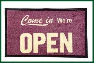 Fußmatte COME IN WE´RE OPEN Gummimatte Geschäft – Bild 1