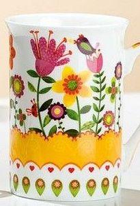 Fröhlich buntes Teeset Blumengarten 3-tlg. Keramik – Bild 3