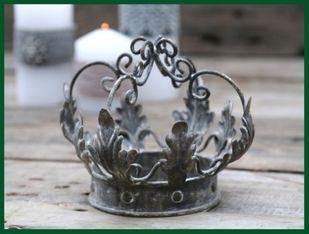 Königskrone Eisen ANTIK Deko Krone grau Blickfang – Bild 1