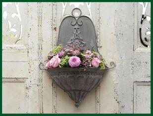 Altfranzösischer Wandaufhang Blumentopf Wand H54 U2013 Bild 1