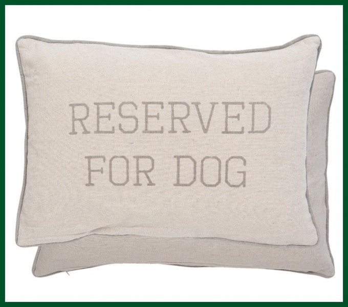 kissen im leinen look natur reserved for dog 35 50 wohntextilien kissen und kissenh llen kissen. Black Bedroom Furniture Sets. Home Design Ideas