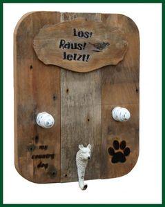 My Country Dog Hunde Garderobe Leinenhalter natur -M- – Bild 4