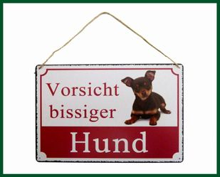 wandschild schild vorsicht bissiger hund t rschild chihuahua wohnen dekoration wanddekoration. Black Bedroom Furniture Sets. Home Design Ideas