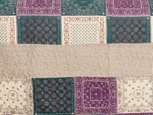 Tagesdecke Patchwork Stil Quilt  aubergine 180*260 – Bild 2