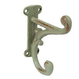 Haken Wandhaken Doppelhaken  Garderobenhaken Eisen antik grün – Bild 1