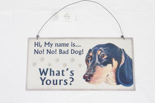 Metallschild Hund MY NAME IS NO! Blechschild 30*15 cm – Bild 2