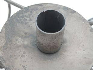Metall Deckenhänger Kerzenhalter Zink grau Vintage D 48 cm – Bild 3