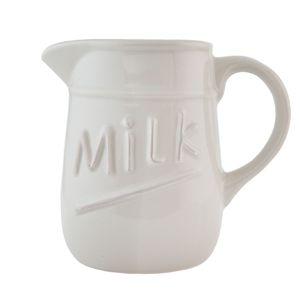 Milchkanne Keramik creme 'MILK' Landhaus Krug rustikal 1l 16*11*15 – Bild 1