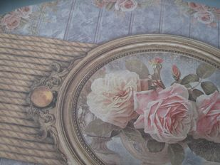 Tablett oval Vintage Rose Schmuckablage Deko Tablett 29*18*1 cm – Bild 2