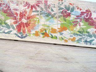 Handgearbeitete Hakenleiste Schlüsselbrett Garderobe Flowers  – Bild 4