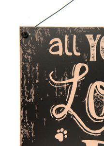 Vintage Blechschild Love Dog Shabby Style Metall Schild 24*0,5*19 cm – Bild 3