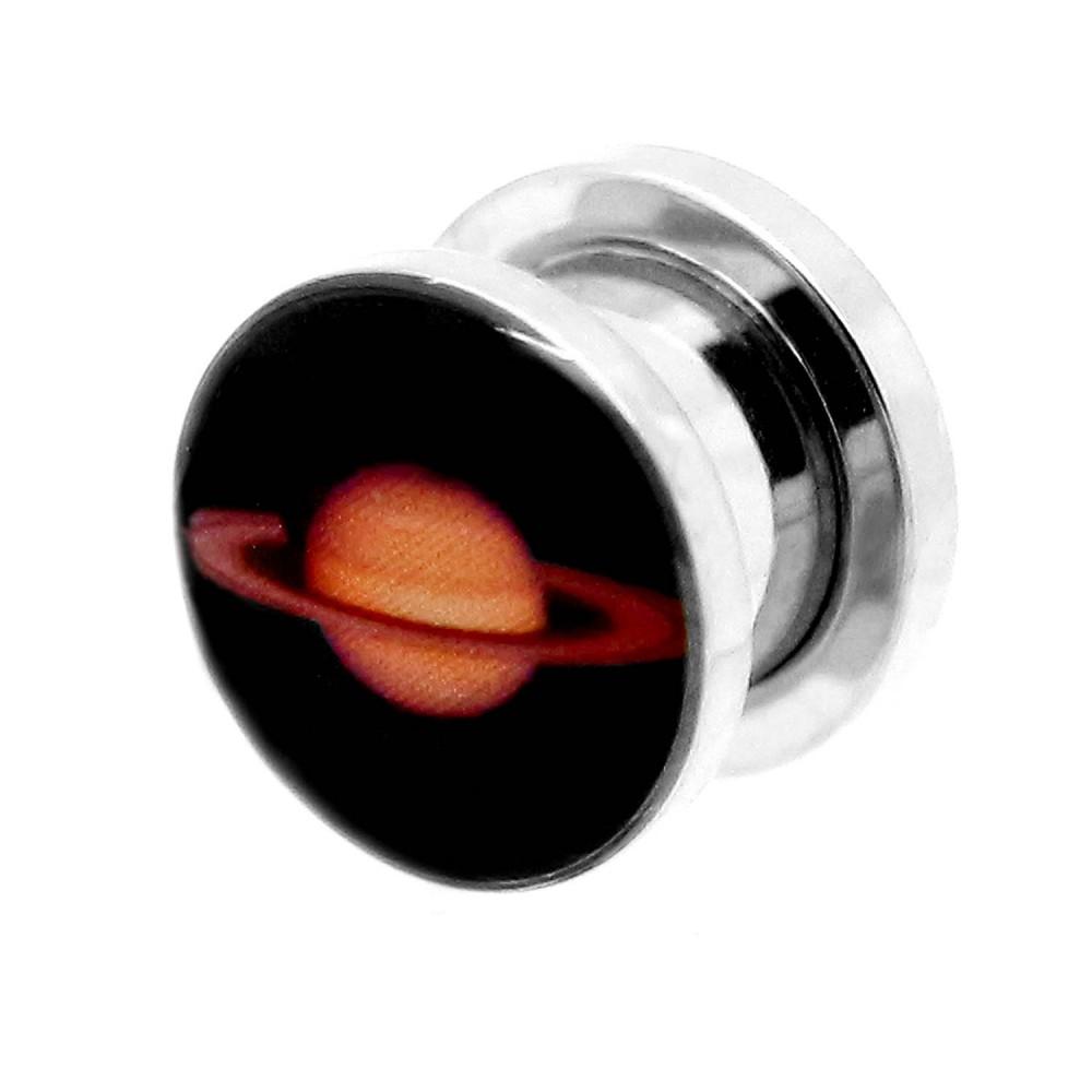 1o Set Flesh Tunnel Plug Piercing Logo Pianeta Terra Occhio Cranio