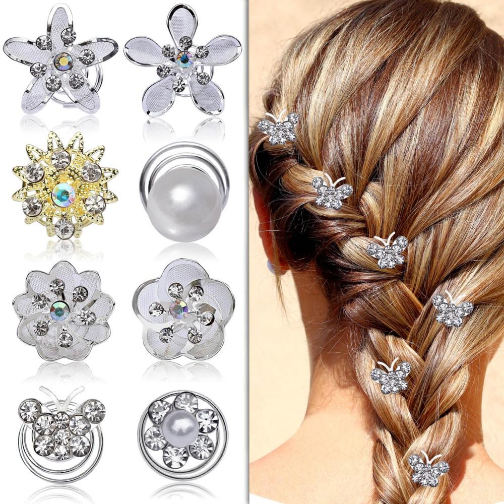 Tumundo Set Von 6 Stk Curlies Hochzeit Haar Nadeln Perlen