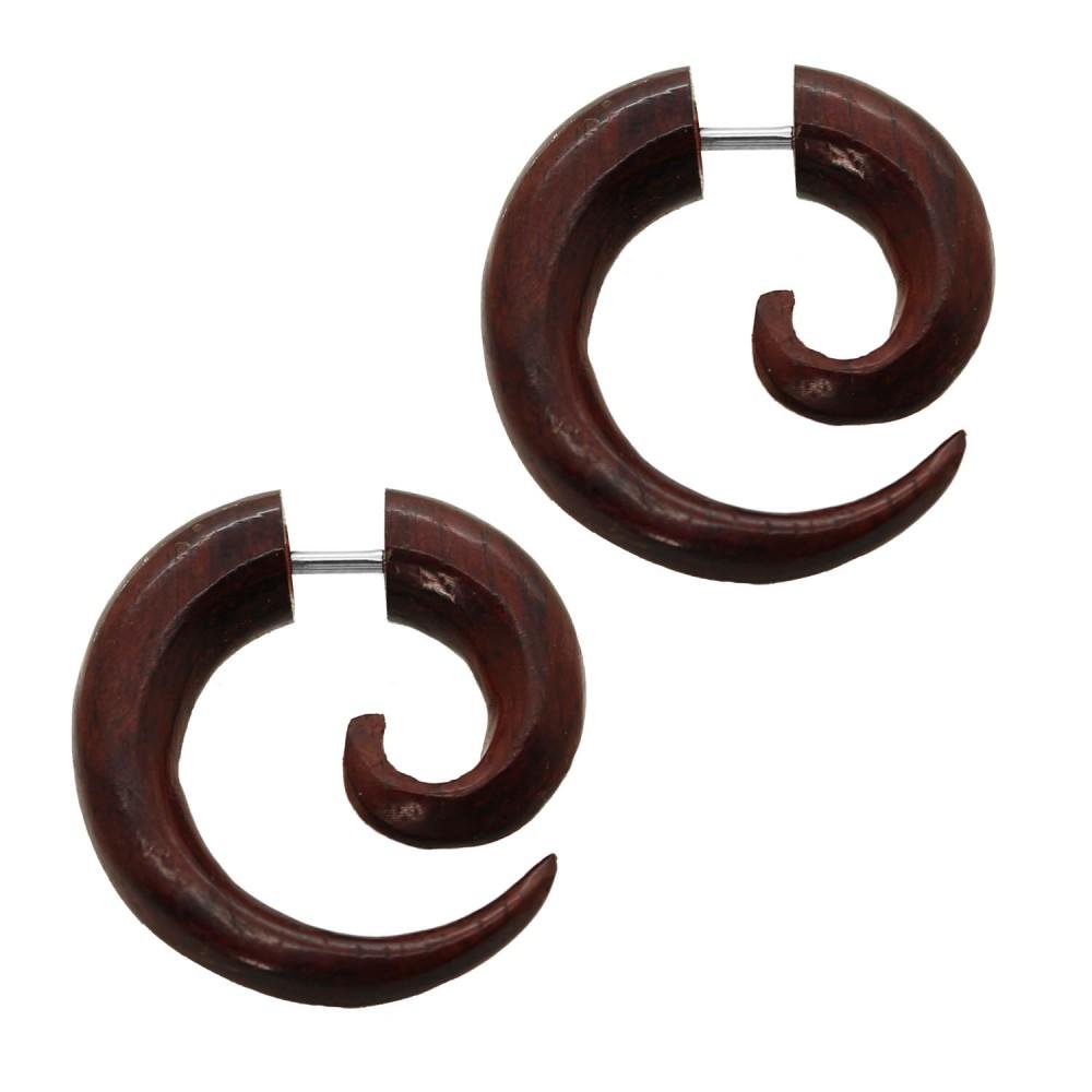 2 faux fakeplug spirales piercing boucle d oreille. Black Bedroom Furniture Sets. Home Design Ideas