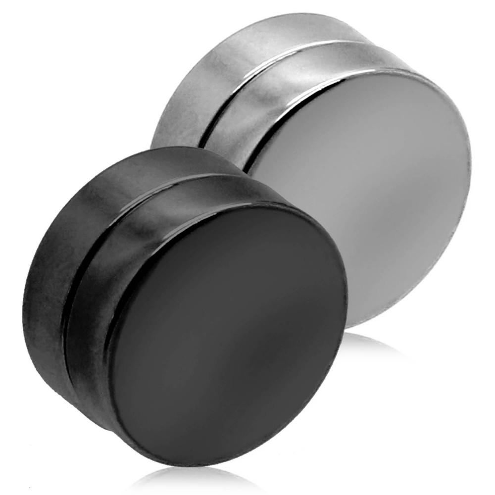 fakeplugs magnetisch magnet fake plug ohrpiercing ohne loch ohr clips edelstahl ebay. Black Bedroom Furniture Sets. Home Design Ideas