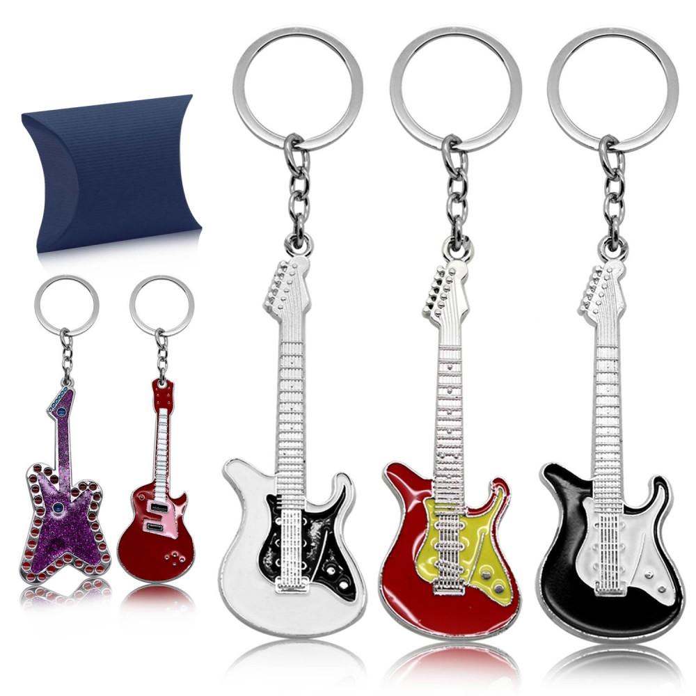 tumundo schl sselanh nger geschenk box schl sselring rock e gitarre musik bass schl sselband. Black Bedroom Furniture Sets. Home Design Ideas