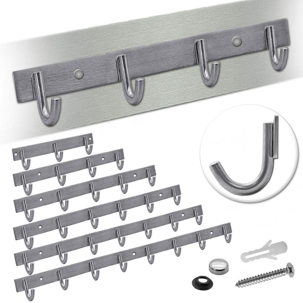 Hakenleiste Garderobe Bad Küche Handtuchhalter Wandhaken Set ...
