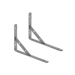 2 Stück Regalbodenträger Metall Regal-Konsole Regal-Träger Winkel Regal-Halterung Schwerlastträger Wandregal Edelstahl