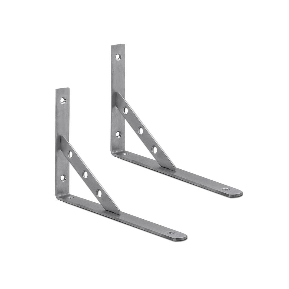 Gut gemocht 2 Stück Edelstahl Regal-Träger Schwerlastträger Set Winkel Konsole OK41