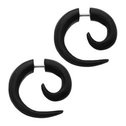 2 Stück Fakeplugs Fake Plug Fakeplug marmoriert Piercing Fake weiß schwarz